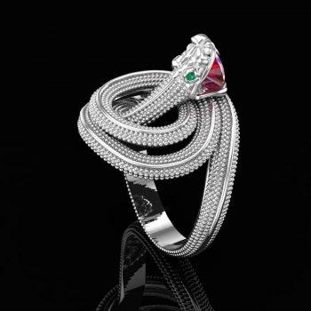 ring-snake-with-ruby-in-teeth-3d-model-obj-mtl-stl-3dm (4)