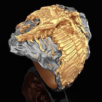 ring-phoenix-3d-model-obj-mtl-stl-3dm